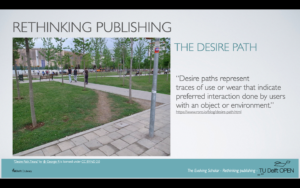 """The """"desire path"""" definition and example"""